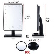 WanEway-Next-Generation-Makeup-Mirror-with-Lights-20-Bright-LEDs-12-Large-Screen-Touch-Dimmable-with-Memory-Function-Removable-10-x-Magnification-Spot-360-Degree-Free-Rotation-Lighted-Illuminated-Vani-0-4