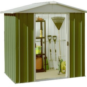 Yardmaster-International-65GEYZ-6-x-4ft-Deluxe-Metal-Shed-Green-Silver-0