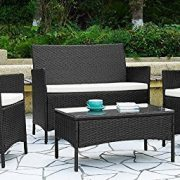 4pcs-Effect-Rattan-OutdoorIndoor-Garden-Coffee-Table-And-Chairs-Set-Dark-Brown-0-0