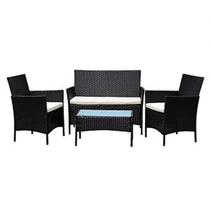 4pcs-Effect-Rattan-OutdoorIndoor-Garden-Coffee-Table-And-Chairs-Set-Dark-Brown-0