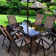 8-Piece-Santorini-Garden-and-Patio-Set-New-2014-Model-Now-With-100-Aluminium-Framework-6-x-Multi-Position-Recliner-Chairs-Table-And-22-Metre-Tilt-and-Crank-Parasol-0-4