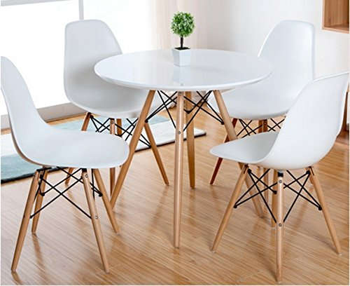 Aspect Como Round Dining Table With Beech Wood Legs Wood