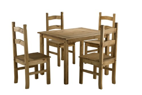 Birlea-Corona-Budget-Dining-Set-Table-and-4-Chairs-Waxed-Pine-0