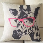 Cartoon-Giraffe-Pink-Glasses-Cotton-Linen-Sofa-Decor-Throw-Pillow-Covers-Pillowcase-Sham-Decor-Cushion-Cover-Slipcovers-Square-18x18-Inch-18-Only-Cover-No-Insert-0-0