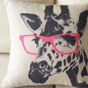Cartoon-Giraffe-Pink-Glasses-Cotton-Linen-Sofa-Decor-Throw-Pillow-Covers-Pillowcase-Sham-Decor-Cushion-Cover-Slipcovers-Square-18x18-Inch-18-Only-Cover-No-Insert-0-1