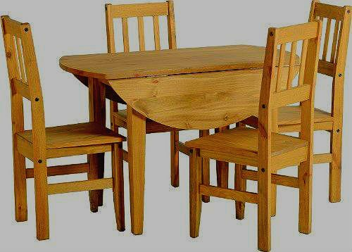 Corona-Round-Drop-Leaf-Dining-Table-4-Chairs- & Corona Round Drop Leaf Dining Table u0026 4 Chairs-Distressed Mexican ...
