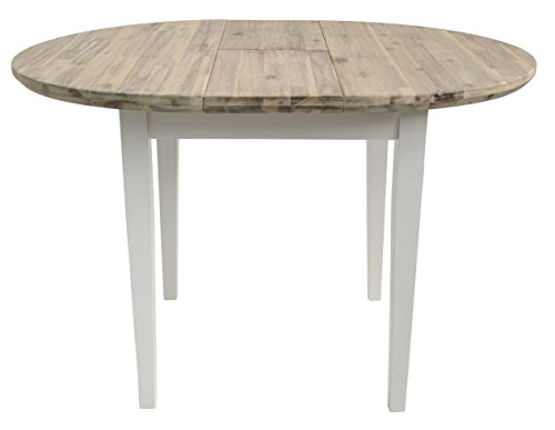 Florence Round Extended Table 92 117cm Stunning White