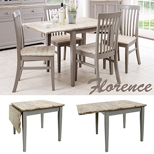 Quality Kitchen Tables: Florence Square Extended Table (75-110cm). Quality Dove