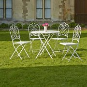 Gardman-Garden-Furniture-Bistro-Set-Folding-Patio-Set-4-Seater-Beige-0-0