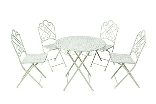 Gardman-Garden-Furniture-Bistro-Set-Folding-Patio-Set-4-Seater-Beige-0