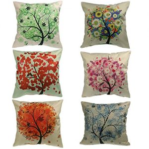 Luxbon-Colorful-Life-Tree-Decorative-Cushion-Cover-Durable-Cotton-Linen-Shabby-Chic-Pillow-Case-18X1845x45cm-0