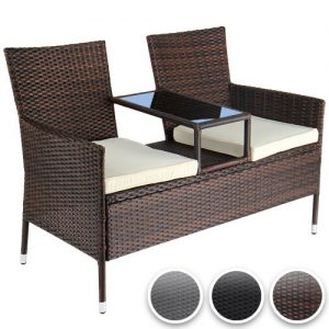Miadomodo-Polyrattan-Garden-Seat-Set-for-Two-with-Integrated-Table-0
