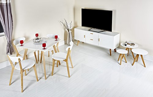 Modern Scandinavian White Grey Retro Home Furniture Range