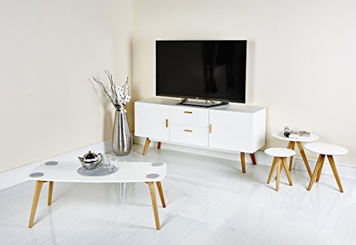 Modern Scandinavian White Grey Retro Home Furniture Range