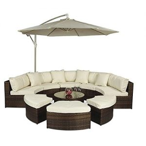 Monaco-Large-Rattan-Sofa-Set-Semi-Circle-with-Small-Round-Glass-Table-and-Cushions-Umbrella-Parasol-Dust-Cover-Garden-Patio-Conservatory-Lounge-Furniture-330-x-210-x-81-cm-Minimal-Assembled-0