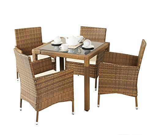 Patio Table Lights Uk: New-5-Piece-Rattan-Dining-Table-For-Conservatory-Patio