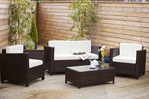 New ROMA Rattan Wicker Weave Garden Furniture Patio