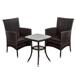 Outsunny-Garden-Outdoor-Rattan-Furniture-Bistro-Set-Patio-Weave-Companion-Chair-Table-Set-Conservatory-Fire-Retardant-Sponge-0