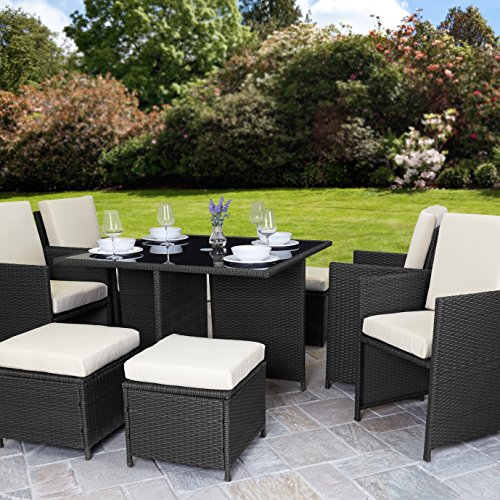 Rattan Cube Garden Furniture Set 8 Seater Outdoor Wicker