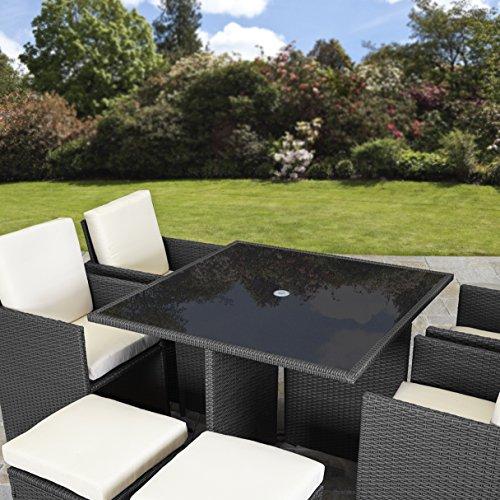 Rattan Cube Garden Furniture Set 8 Seater Outdoor Wicker