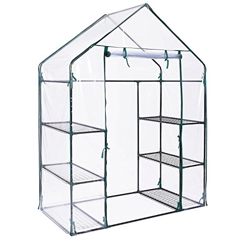Oypla-3-Tier-4-Shelf-Mini-Walk-in-Growhouse-Garden-Greenhouse-0