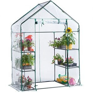 VonHaus-Compact-Walk-In-Greenhouse-with-6-Shelves-0