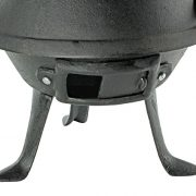 Black-Barrel-Charcoal-BBQ-w-Cast-Iron-Adjustable-Grill-Garden-Camping-Barbeque-0-2
