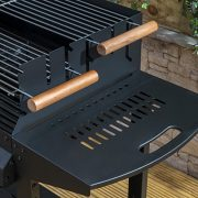 Deluxe-Trolley-Charcoal-Barbecue-Side-Shelves-Portable-0-4