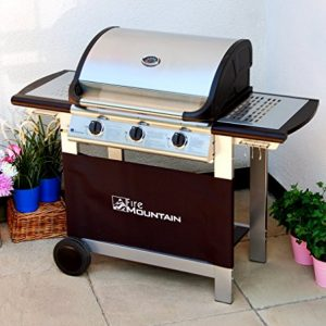 Everest-3-Burner-Gas-Barbecue-Stainless-Steel-Cast-Iron-Burners-Grill-Griddle-with-Free-Propane-Regulator-Hose-0