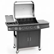 FirePlus-41-Gas-Burner-Grill-BBQ-Barbecue-incl-Side-Burner-Black-61-x-42cm-0-0