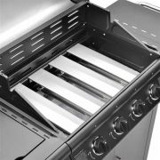 FirePlus-41-Gas-Burner-Grill-BBQ-Barbecue-incl-Side-Burner-Black-61-x-42cm-0-1