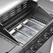 FirePlus-41-Gas-Burner-Grill-BBQ-Barbecue-incl-Side-Burner-Black-61-x-42cm-0-2