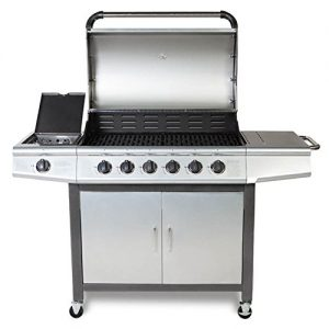 Fireplus-61-Gas-Burn-Grill-BBQ-Barbecue-w-Side-Burner-Storage-0