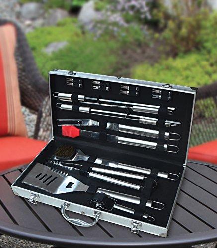 KOVOT-18-Piece-Stainless-Steel-BBQ-Set-FREE-Aluminium-Carry-Case-0