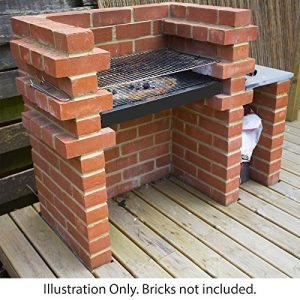 Marko-Outdoor-Brick-BBQ-DIY-Kit-Charcoal-Barbecue-Chrome-Grill-Built-In-Heavy-Duty-0