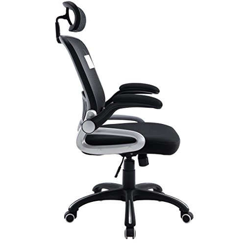 Mesh High Back Extra Padded Grey Swivel Office Chair With