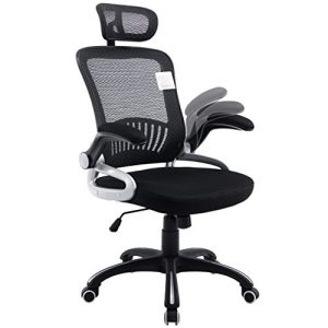 Mesh-High-Back-Extra-Padded-Grey-Swivel-Office-Chair-with-Head-Support-Adjustable-Arms-0