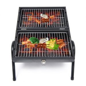 Outsunny-New-Portable-Charcoal-Trolley-Barbecue-Grill-Black-0
