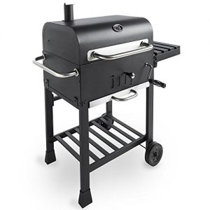 VonHaus-Charcoal-BBQ-Smoker-with-Side-Table-Rack-Temperature-Gauge--Portable-Patio-Grill-0