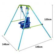 Blue-Folding-Swing-Outdoor-Indoor-Swing-Toddler-Swing-with-safety-Baby-Seat-for-babychirldrens-Gift-0-1