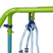 Blue-Folding-Swing-Outdoor-Indoor-Swing-Toddler-Swing-with-safety-Baby-Seat-for-babychirldrens-Gift-0-4