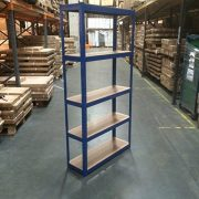 150cm-x-75cm-x-30cm-Blue-5-Tier-175KG-Per-Shelf-875KG-Capacity-Garage-Shed-Storage-Shelving-Units-5-Year-Warranty-0-1