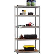3-x-90cm-Grey-Shed-Utility-Greenhouse-Storage-Racks-Garage-Shelving-Bays-900kg-Capacity-Grey-0-3