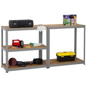 3-x-90cm-Grey-Shed-Utility-Greenhouse-Storage-Racks-Garage-Shelving-Bays-900kg-Capacity-Grey-0-4