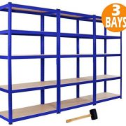 3-x-Racking-Bays-90cm-x-180cm-x-45cm-5-TIER-SHELVING-BAYS-STORAGE-SHELF-UNIT-WAREHOUSE-GARAGE-HEAVY-DUTY-BOLTLESS-STEEL-RACKING-FREE-MALLET--0-0