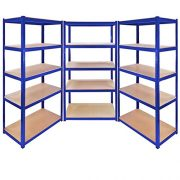 3-x-Racking-Bays-90cm-x-180cm-x-45cm-5-TIER-SHELVING-BAYS-STORAGE-SHELF-UNIT-WAREHOUSE-GARAGE-HEAVY-DUTY-BOLTLESS-STEEL-RACKING-FREE-MALLET--0-1