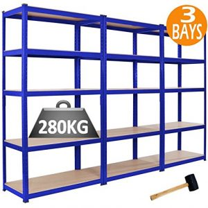 3-x-Racking-Bays-90cm-x-180cm-x-45cm-5-TIER-SHELVING-BAYS-STORAGE-SHELF-UNIT-WAREHOUSE-GARAGE-HEAVY-DUTY-BOLTLESS-STEEL-RACKING-FREE-MALLET--0
