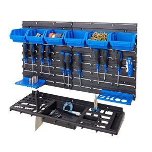 BiGDUG-Garage-Shed-Workshop-Wall-Tool-Storage-Rack-Kit-Inc-6-Bins-12-Hooks-Tool-Tray-0