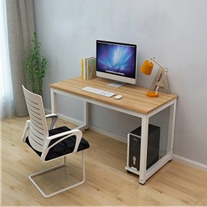 Dripex-Modern-Simple-Style-Steel-Frame-Wooden-Home-Office-Table-Computer-PC-Laptop-Desk-Study-Table-Workstation-for-Home-Office--More-Color-Available-0