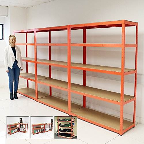 Elephant 174 120cm Extra Wide Heavy Duty 5 Tier Shelf